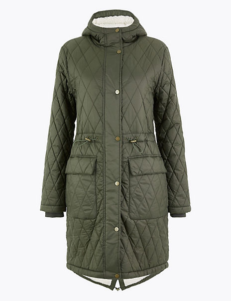 Quilted Borg Lined Parka