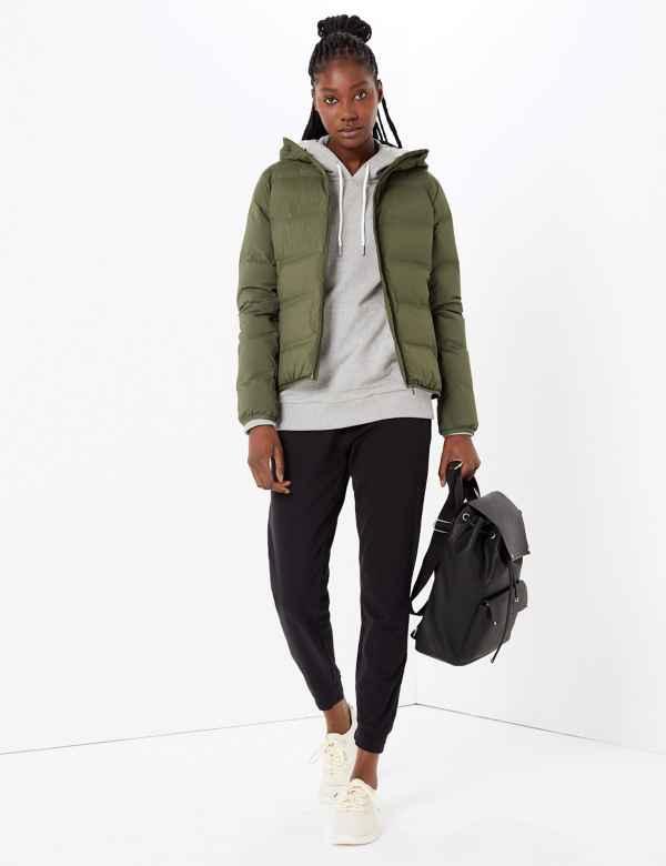 clp60371104: Heatseal Down & Feather Hooded Jacket