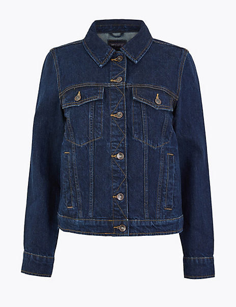 Button Detailed Denim Jacket