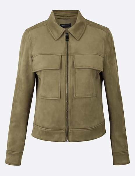 Soft Touch Utility Short Jacket