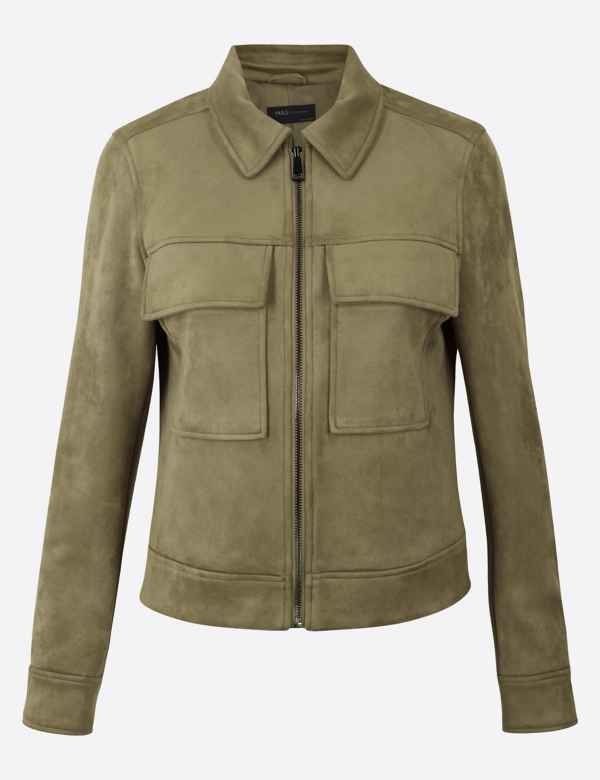 Womens M/&S Anorak Parka Coat UK 10 12 Cotton Ltd Edtn Sheepskin Collar 4