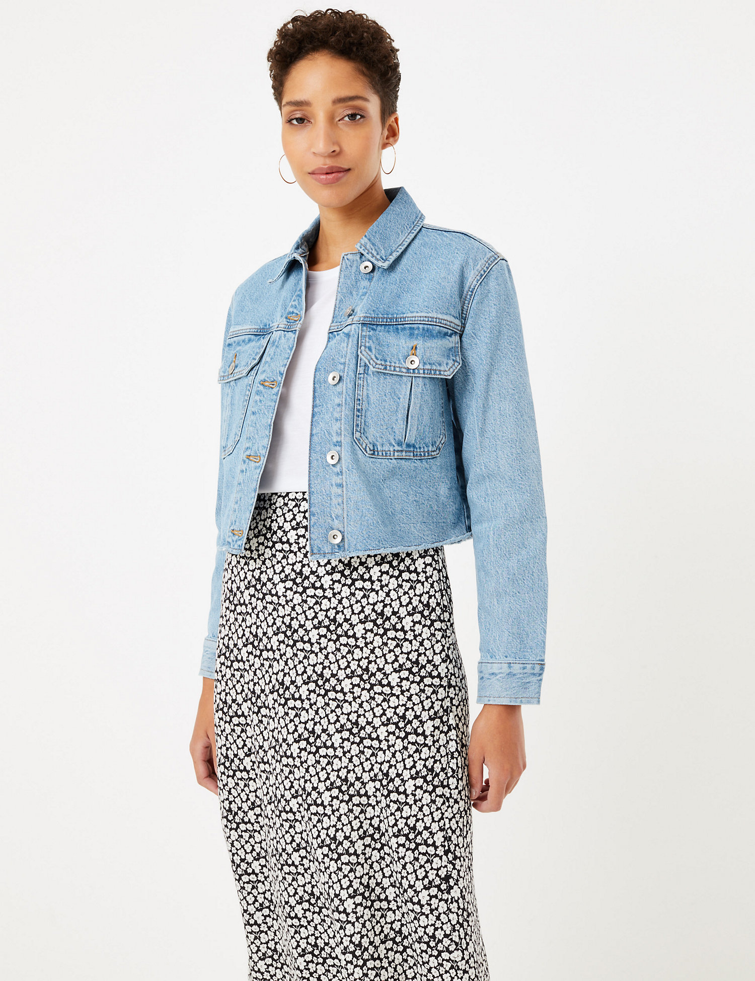 M&S COLLECTION Cropped Denim Jacket