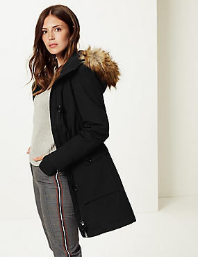 Padded Down & Feather Parka Jacket