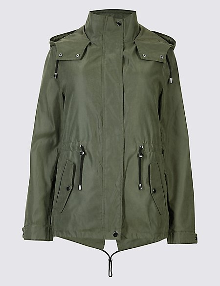 Drawstring Waist 2 in 1 Parka