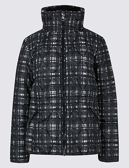 Textured Padded Jacket with Stormwear™