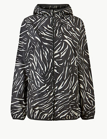 Animal Print Pack Away Parka