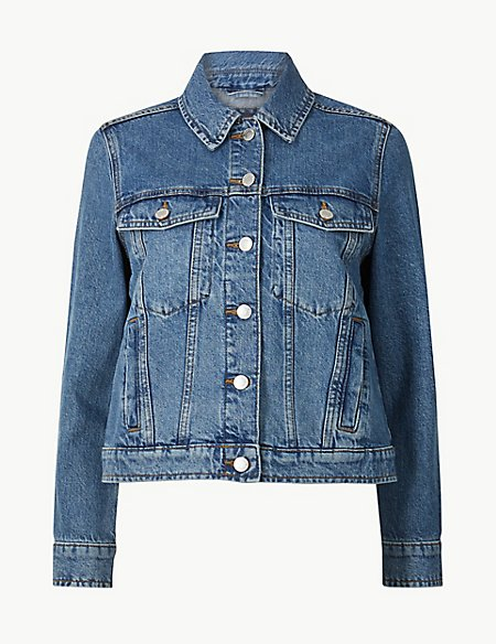PETITE Pure Cotton Denim Jacket