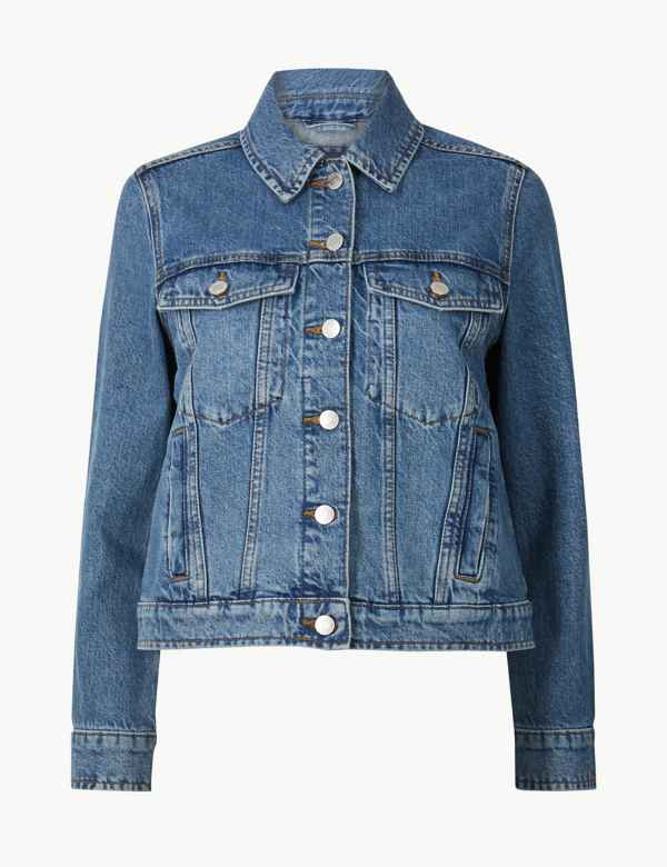 75415b0f4bc6 PETITE Pure Cotton Denim Jacket
