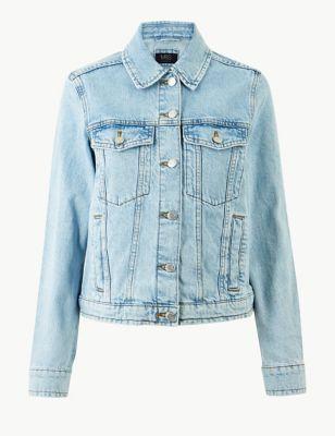 Pure Cotton Button Detailed Denim Jacket £35.00 ef2dc9d23