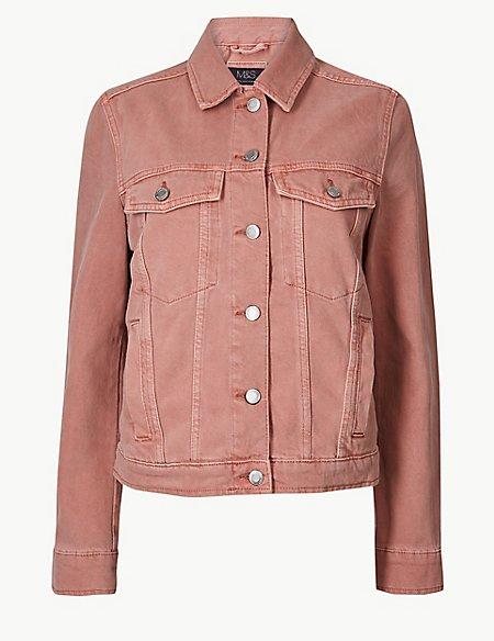 Button Detailed Denim Jacket