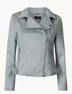 9a3990f720a Faux Suede Biker Jacket £45.00