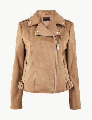 e671dcb7a5 Faux Suede Biker Jacket £25.00 - £45.00