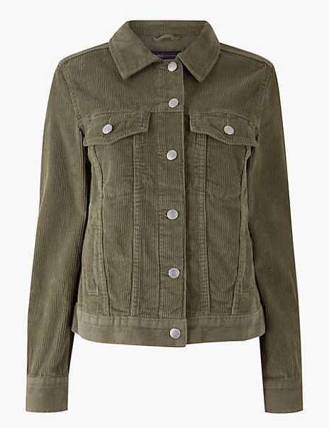 Pure Cotton Button Detailed Short Jacket