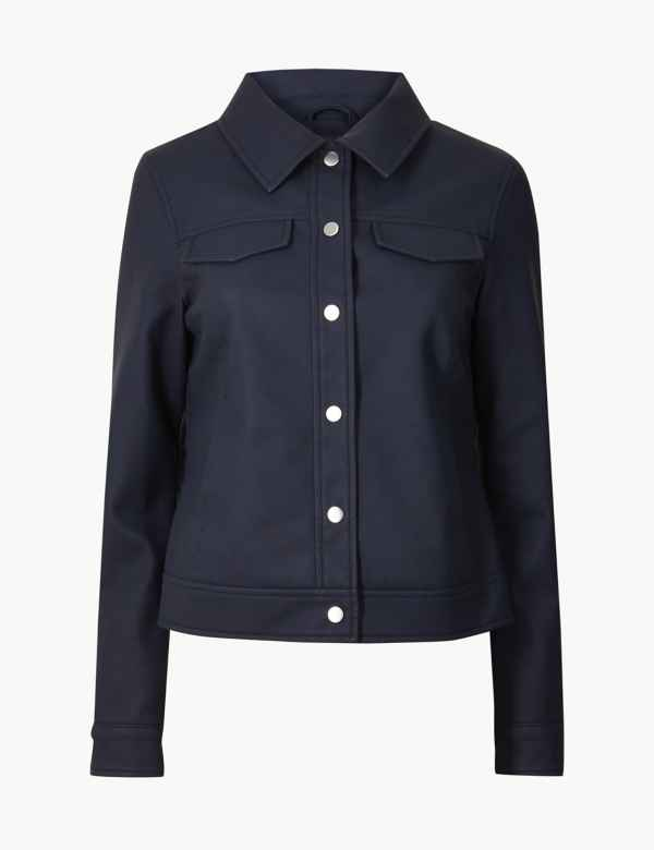 138a4ae2 Womens Leather Jackets | M&S