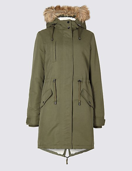 Faux Fur Parka with Stormwear™