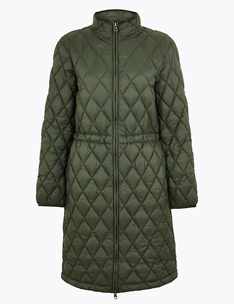Longline Quilted Utility Coat