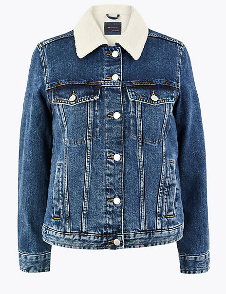 Denim Borg Lined Jacket