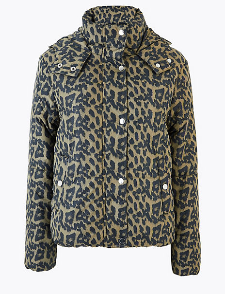 Thermowarmth Padded Leopard Print Jacket