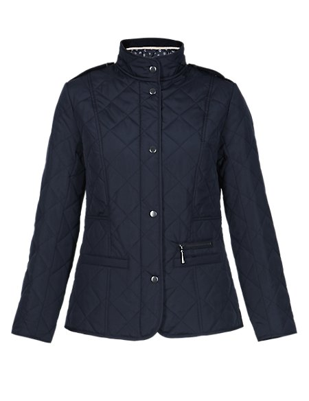 PETITE Funnel Neck Quilted Jacket with Stormwear™