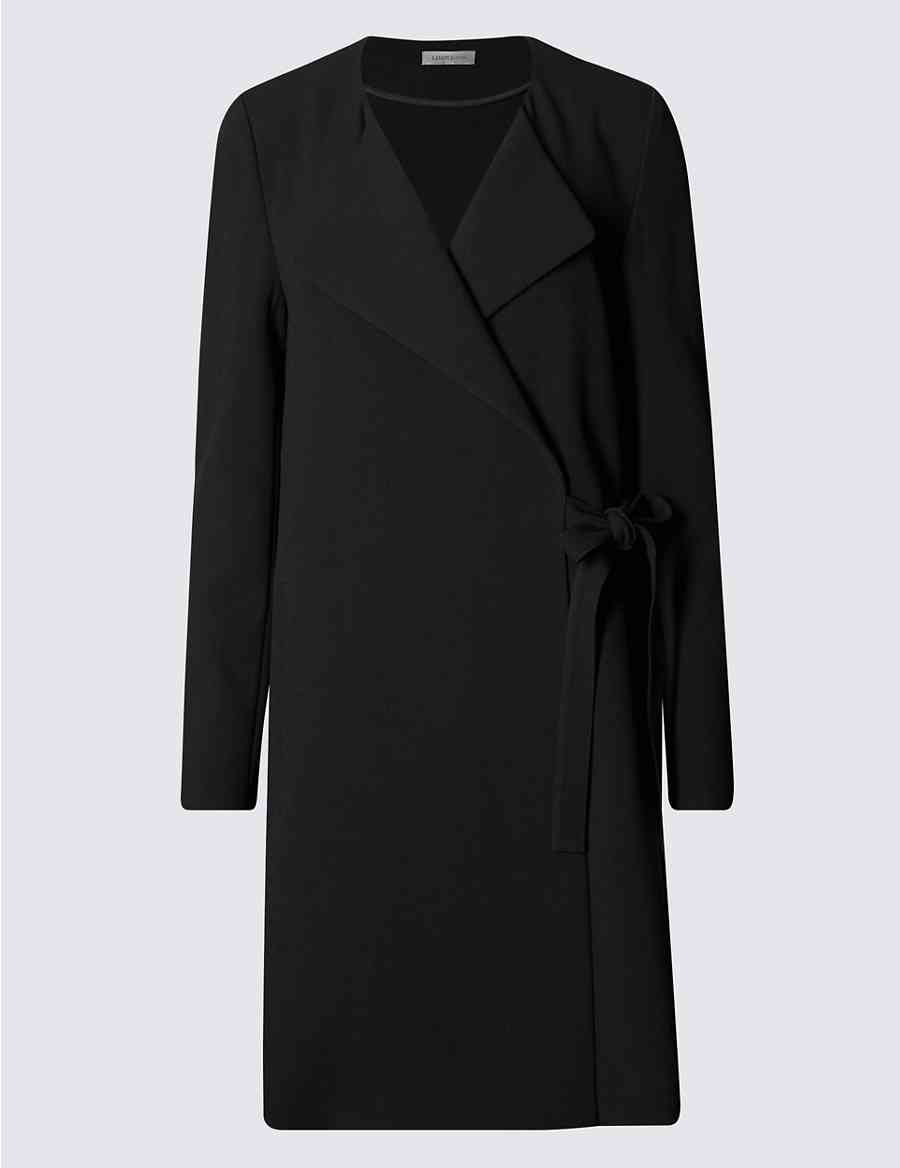 6bffcae3 Wrap Front Belted Coat