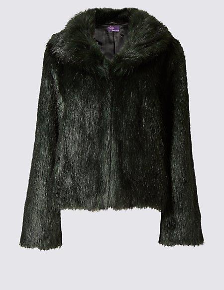 Faux Fur 2 Pocket Jacket