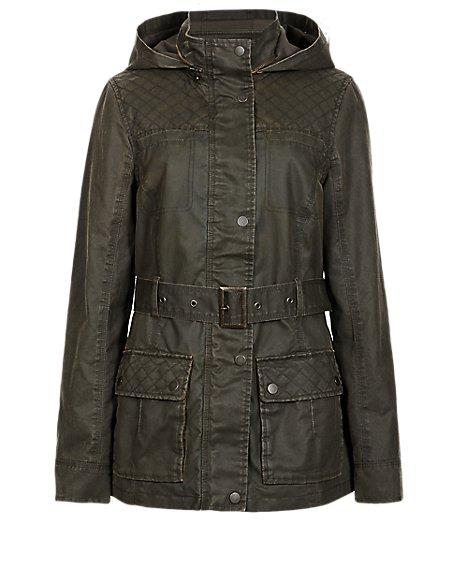 4 Pockets Waxy Jacket