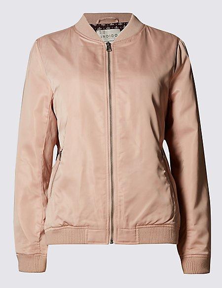 Zipped Bomber Jacket with Stormwear™