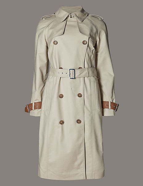Cotton Rich Belted Trench Coat with Stormwear™