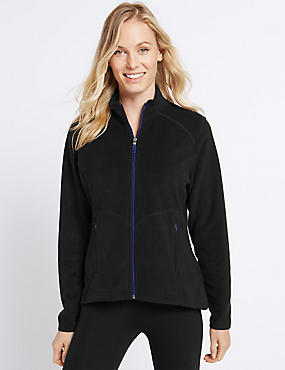 Funnel Neck Fleece Jacket