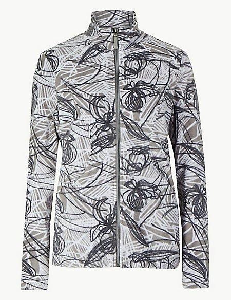 Floral Print Fleece Jacket