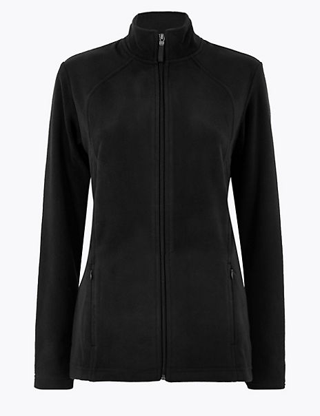 Zipped Detail Fleece Jacket