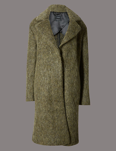 Brushed Unstructured Blanket Coat