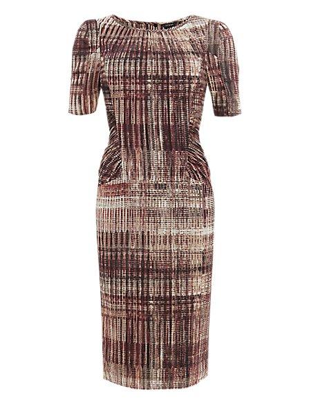 Silk Rich Abstract Print Dress