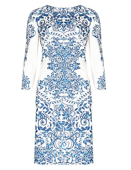 Floral Mirror Effect Shift Dress