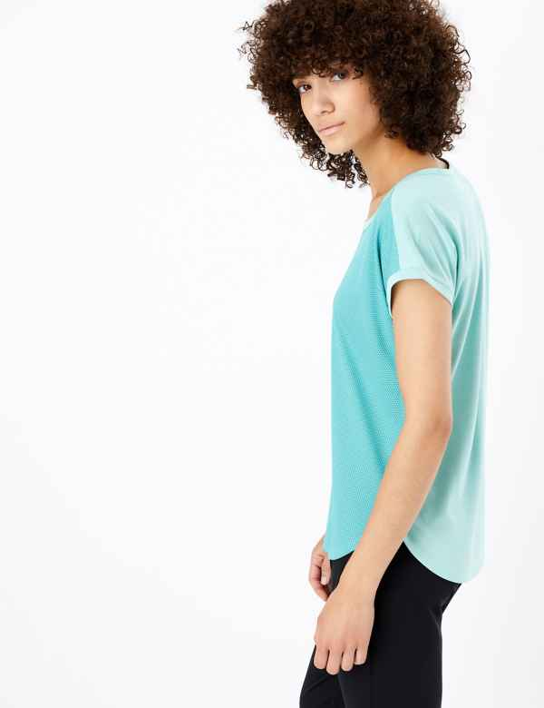 9381bc11aa04 Quick Dry Round Neck Short Sleeve Top