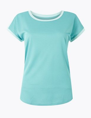 Quick Dry Round Neck Short Sleeve Top 1600