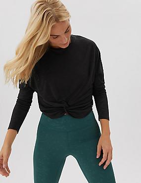 Lightweight Twist Front Long Sleeve Top