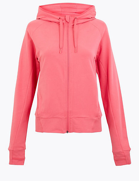 Cotton Rich Zip Through Hoodie