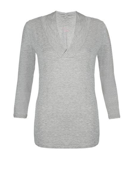 Active Shawl Collar T-Shirt