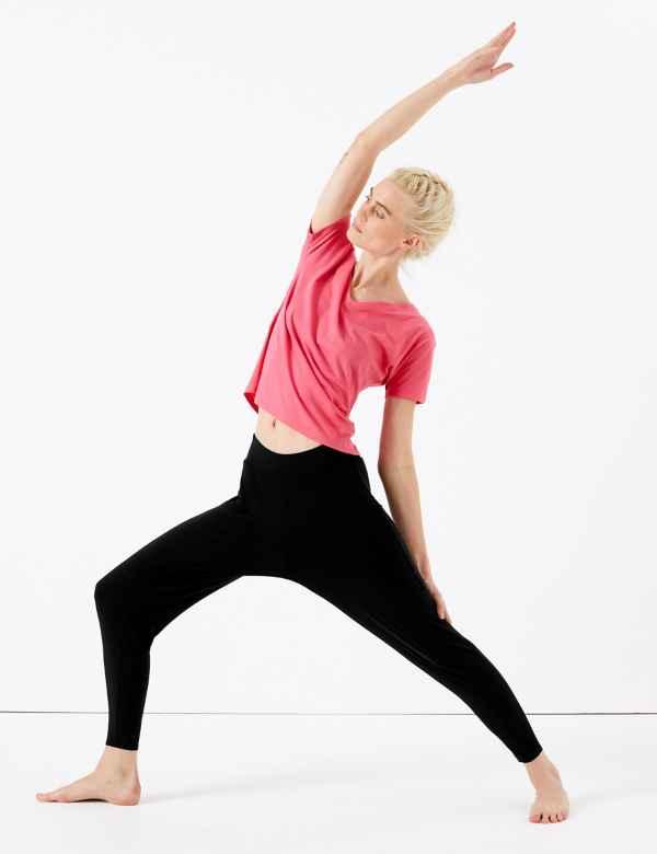 6af417fec Quick Dry Full Length Yoga Bottoms