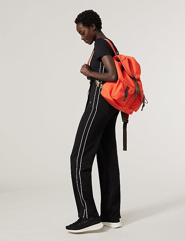 Cotton Side Stripe Straight Leg Joggers