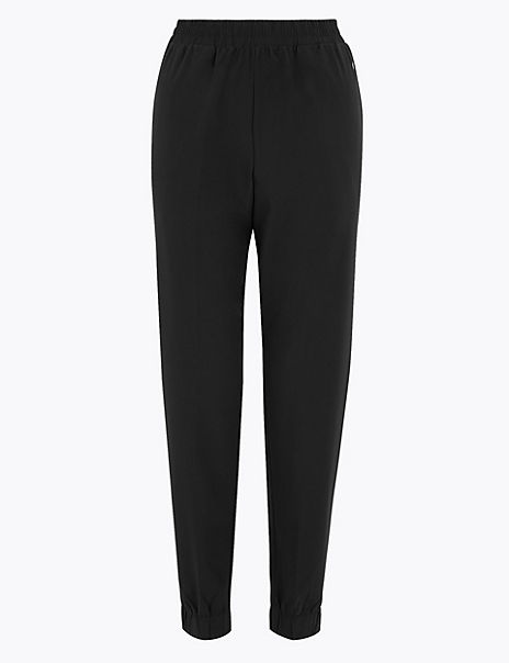 Woven Mesh Panelled Cuffed Joggers