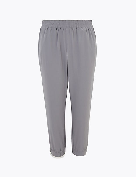 Woven Cropped Joggers