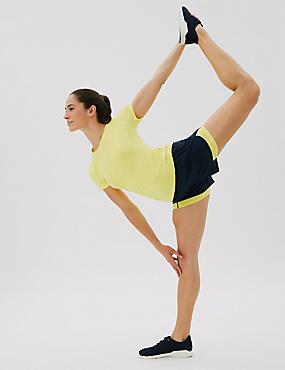 Woven Layered Gym Shorts
