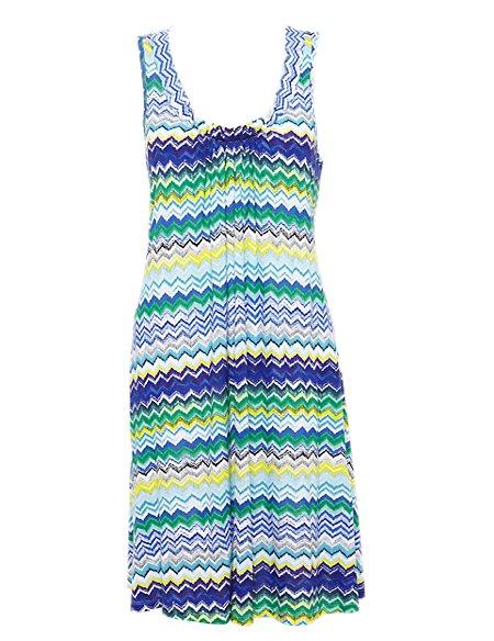 Zig Zag Print Dress
