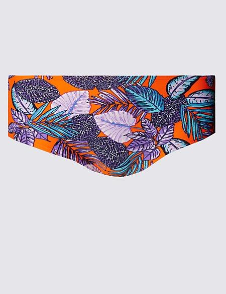 Leaf Print Bikini Boyshorts