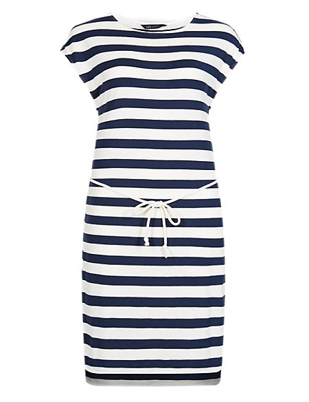 Striped Rope Tie Dress