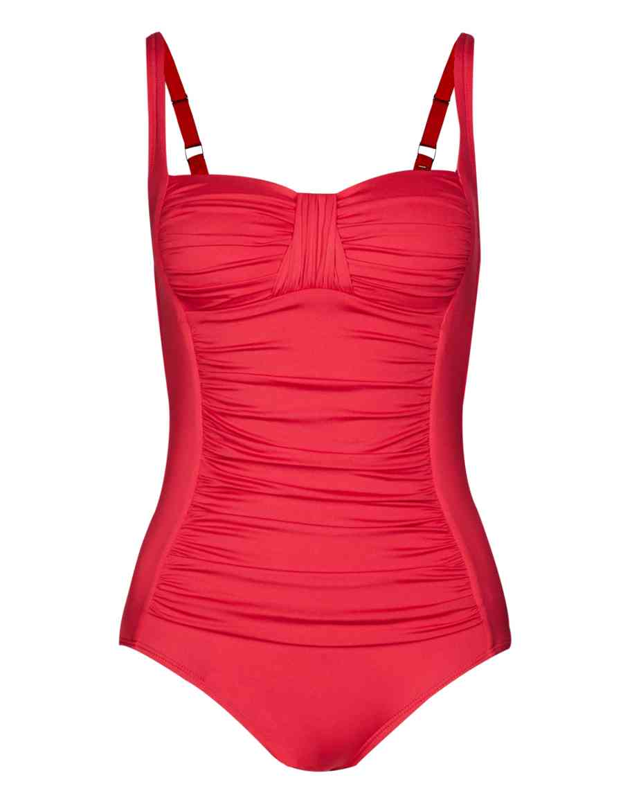 752da7ce36e4a Tummy Control Twisted Front Ruched Swimsuit