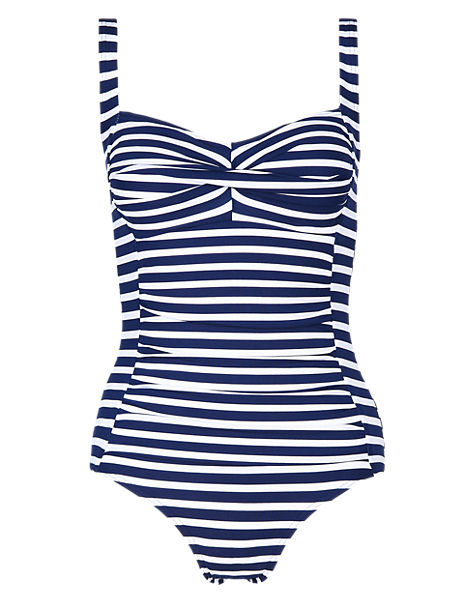 Tummy Control Striped Swimsuit