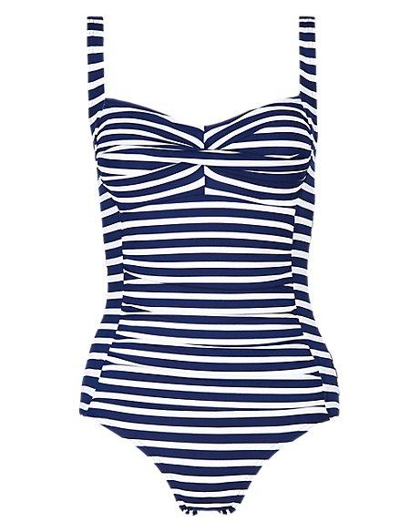Tummy Control Striped Swimsuit